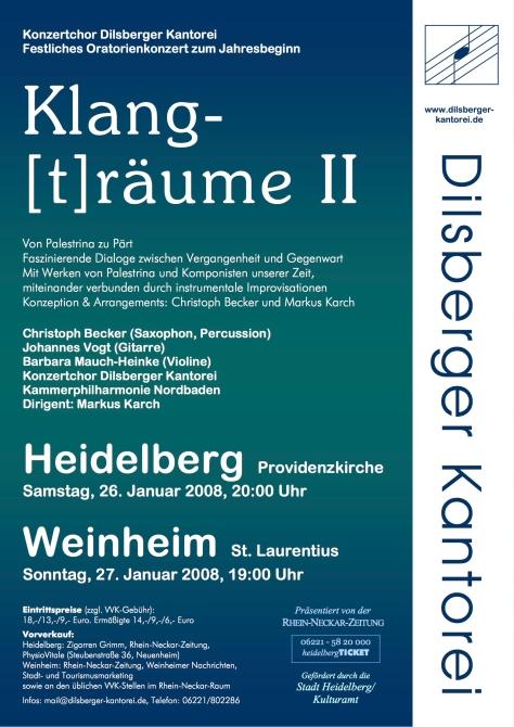 Plakat Klangtraume II