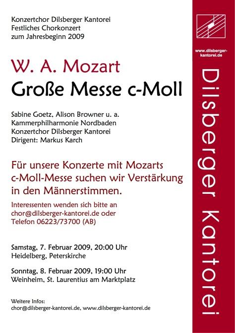 Plakat Mozart c-moll-Messe