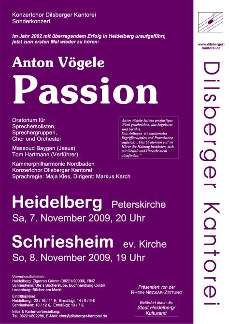 Plakat Voegele Passion