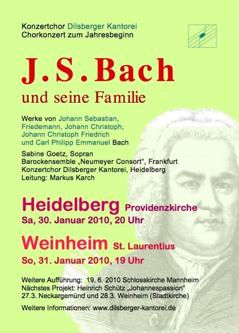 Plakat J.S. Bach und seine Familie