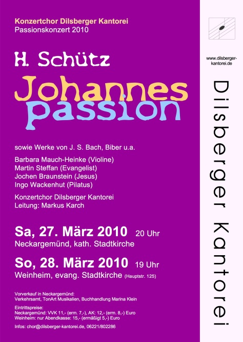 Plakat Schuetz Johannespassion