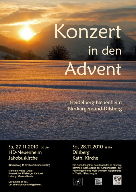 Plakat Adventskonzert 2010