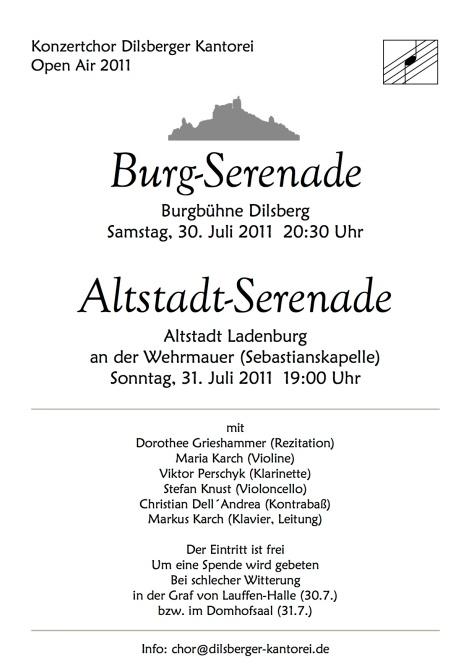 Plakat Serenade 2011