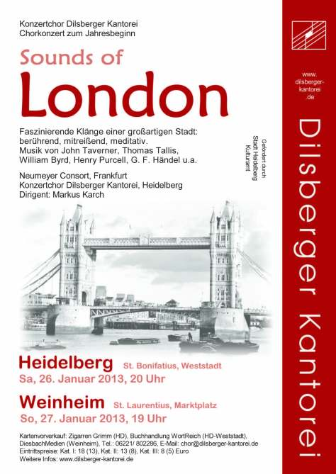 Plakat Sounds of London 2013