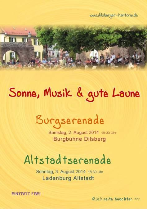 Plakat Serenade 2014