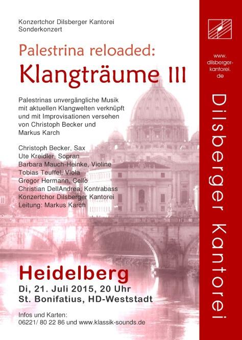 Plakat Palestrina reloaded