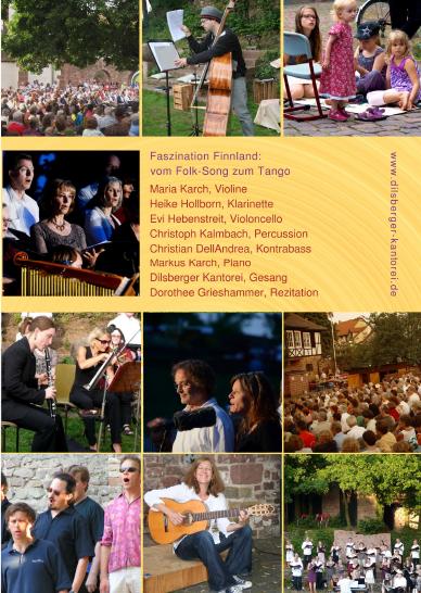 Plakat mit Konzertdaten