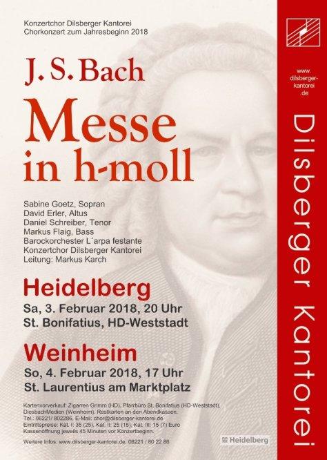 Plakat J. S. Bach h-moll Messe